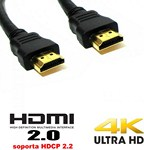 Cable HDMI  negro versión 2.0 ultra HD - 2.00m