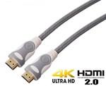 Super Cable HDMI  versión 2.0 ultra HD Blanco - 4.00m
