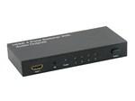 Conmutador / Switcher HDMI 4x1. FullHD 1080P. 3D con Audio Stereo & salida Coaxial Digital